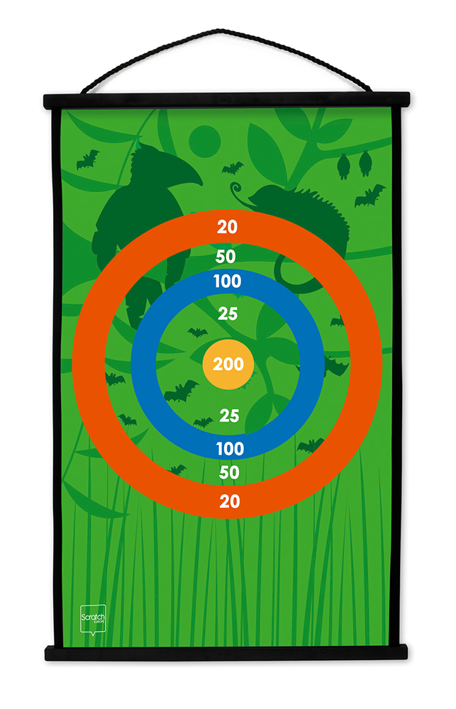Double sided Start to Dart Toucan jungle game