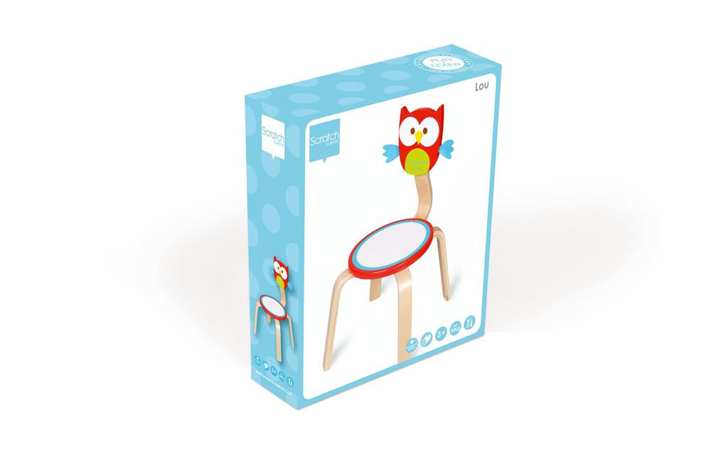 Chair Owl Lou red