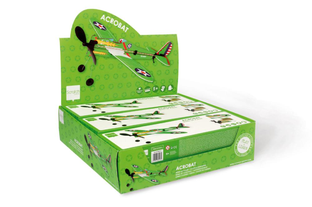 Wind-up foam Plane Acrobat Army collection