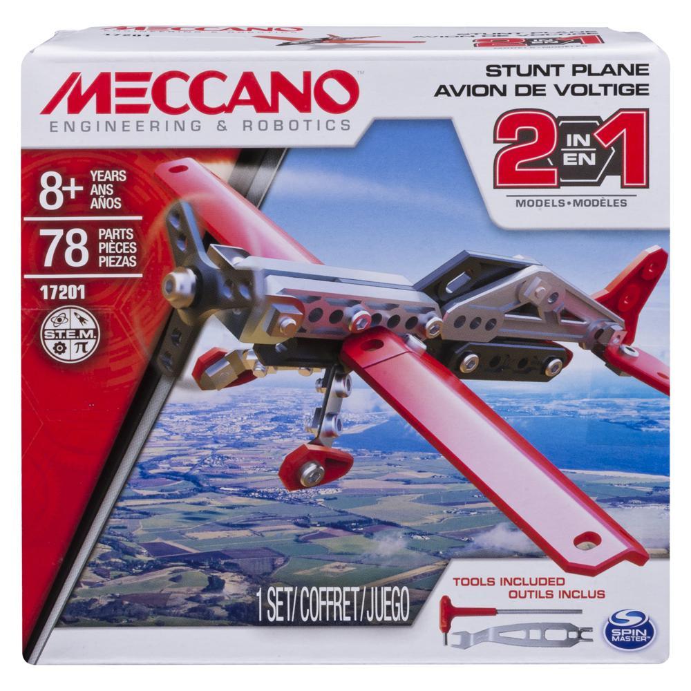 Meccano Ensemble 3 modèles Avion 2 en 1