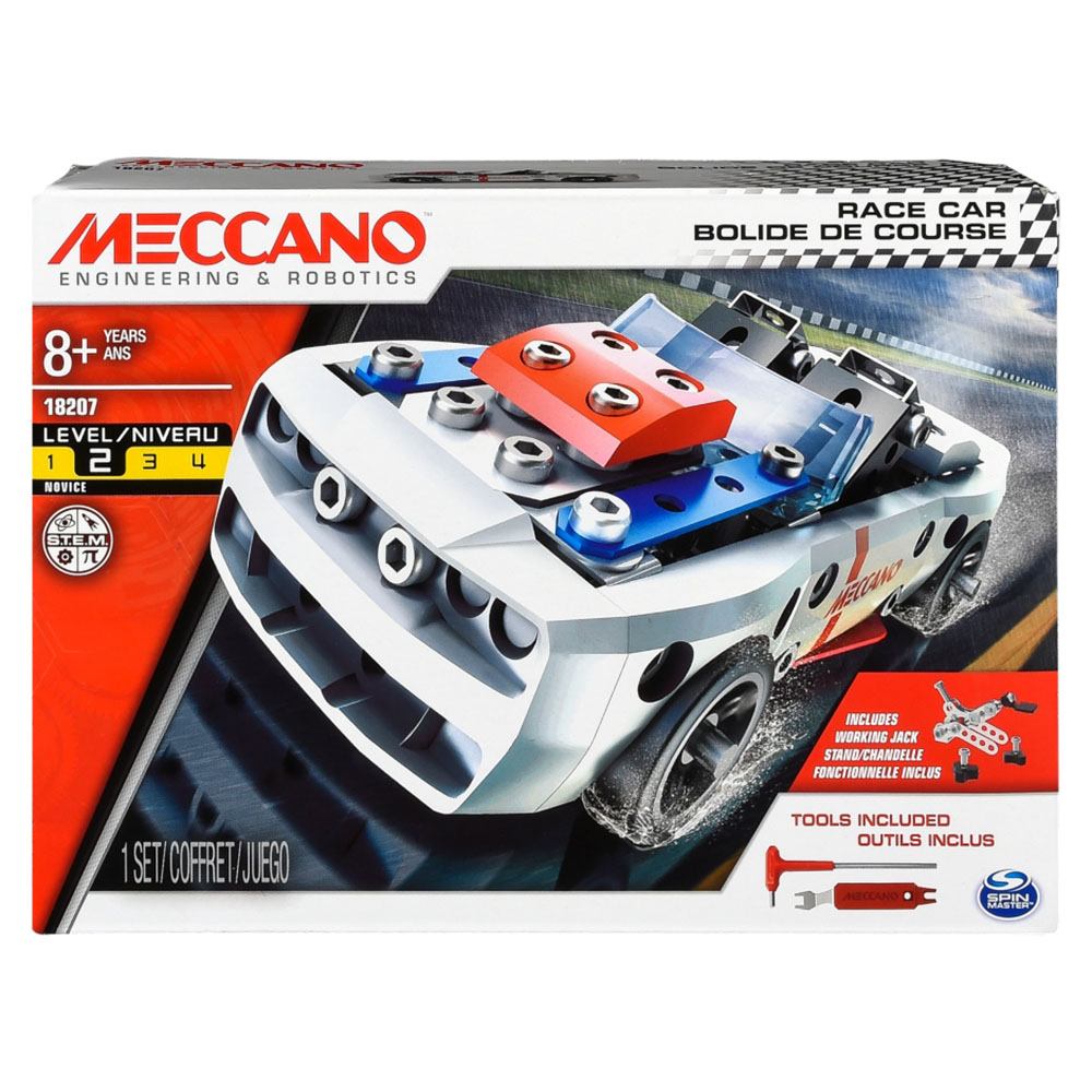 Meccano-Tractopelle Bolide de course assortis
