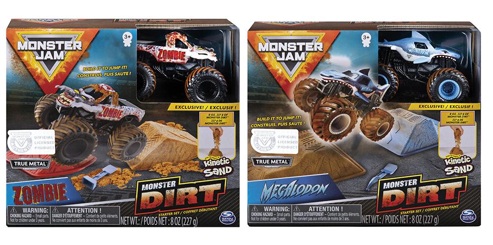 Monster Jam Kinetic Dirt Starter set assorted