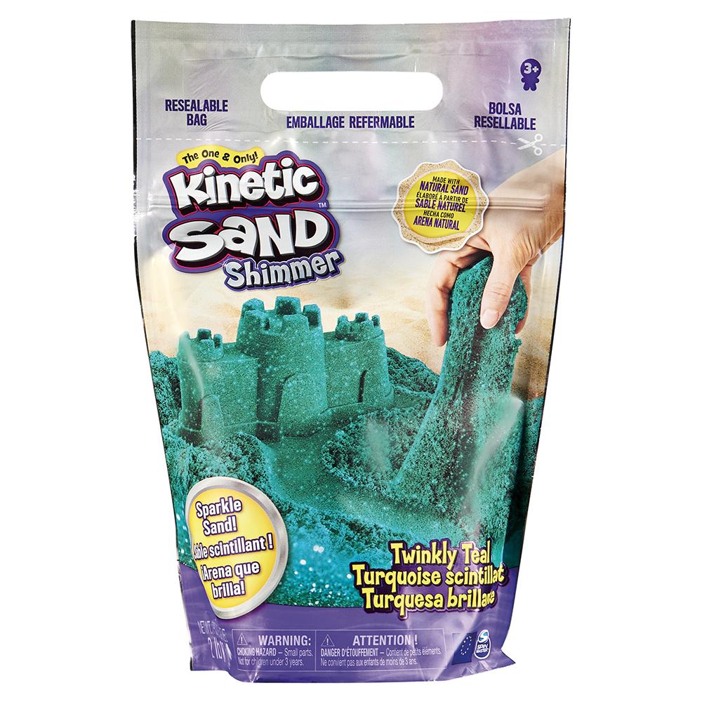 Kinetic Sand - 2lbs Shimmer sand - Twinky teal