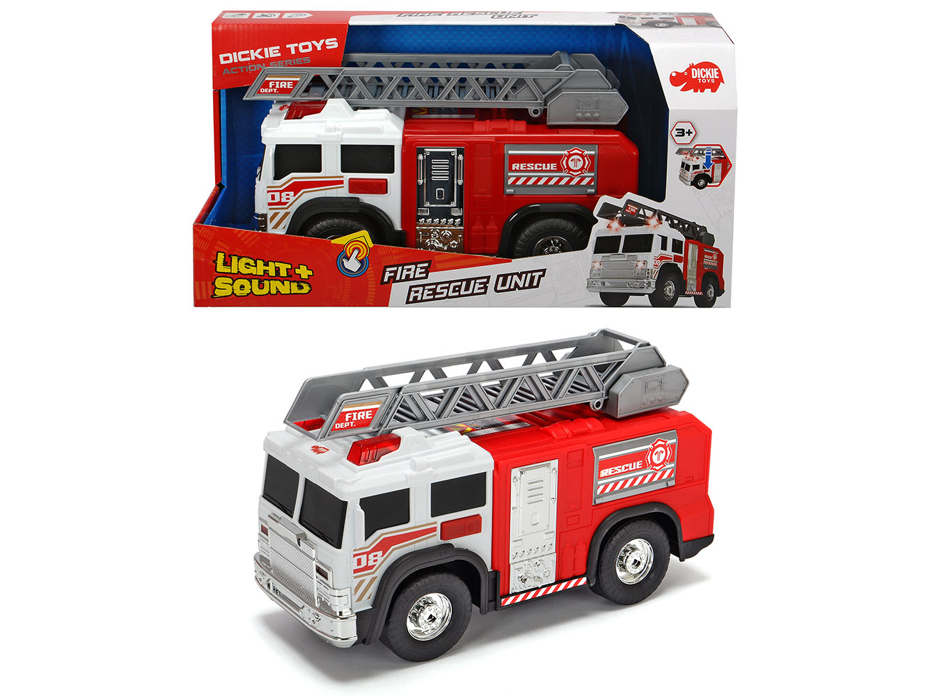 Action Series - Fire Rescue Unit Light and sound 30 cm