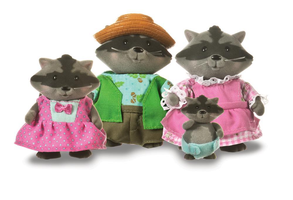 Li'l Woodzeez Famille de ratons laveur