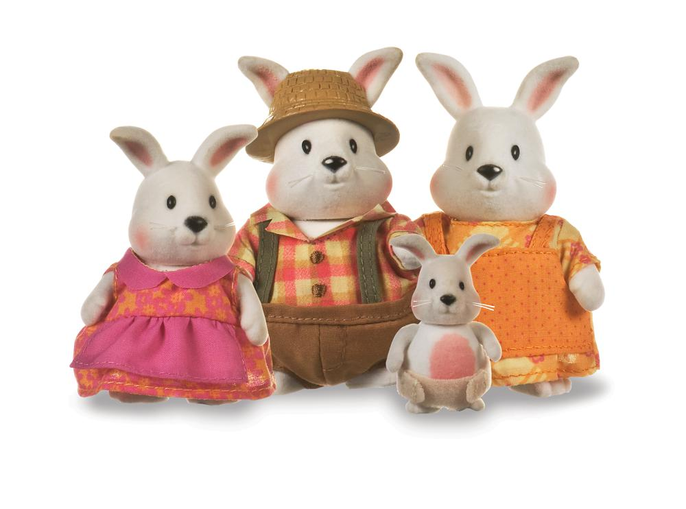 Li'l Woodzeez Famille de lapins