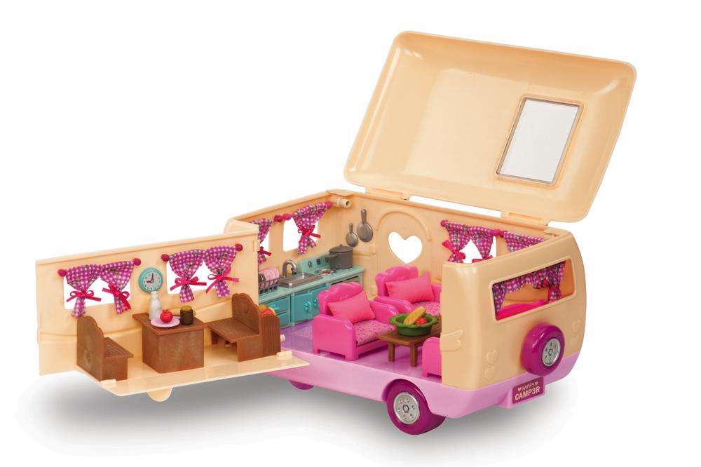 Li'l Woodzeez - Pink Camper playset