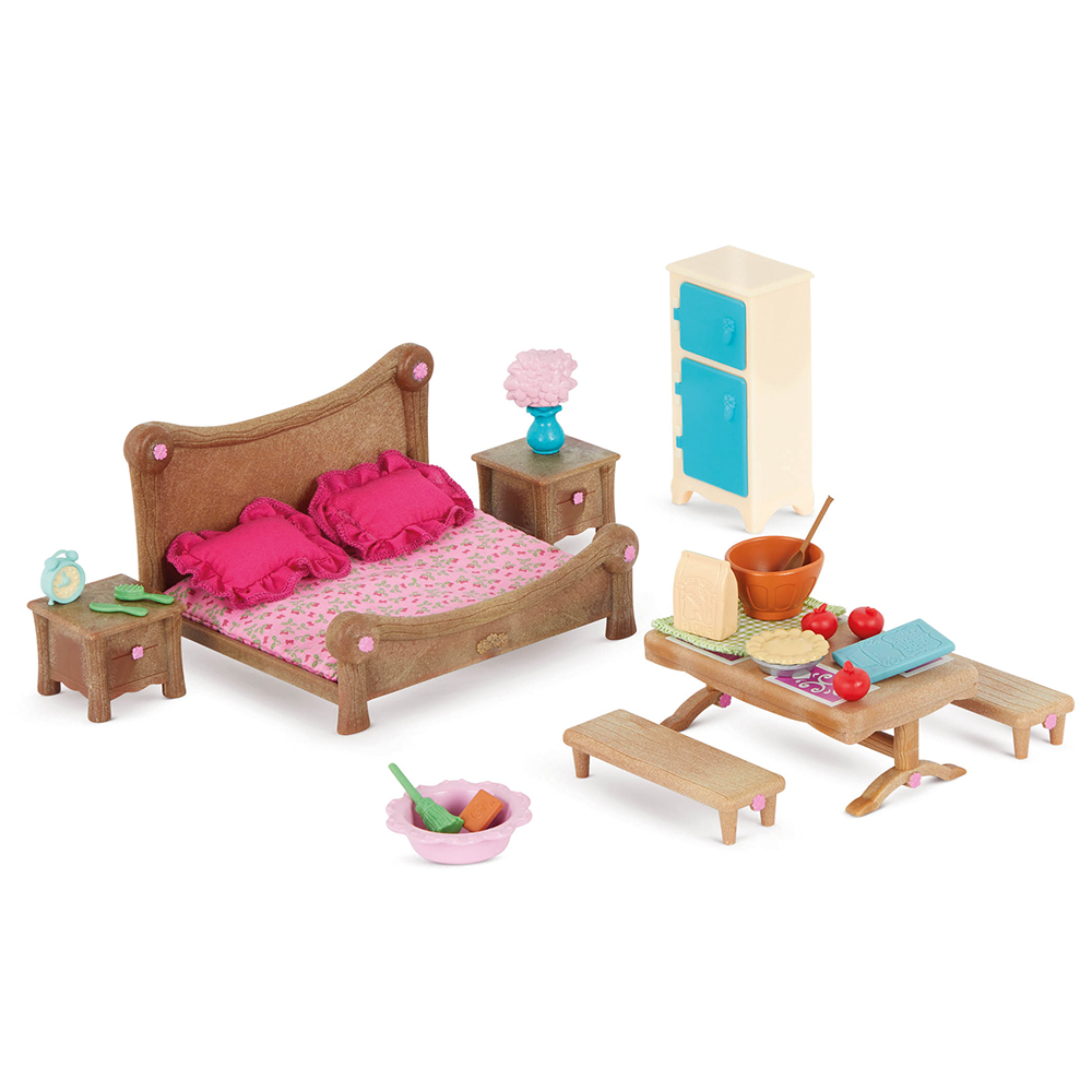 Li'l Woodzeez Master bedroom and dining set