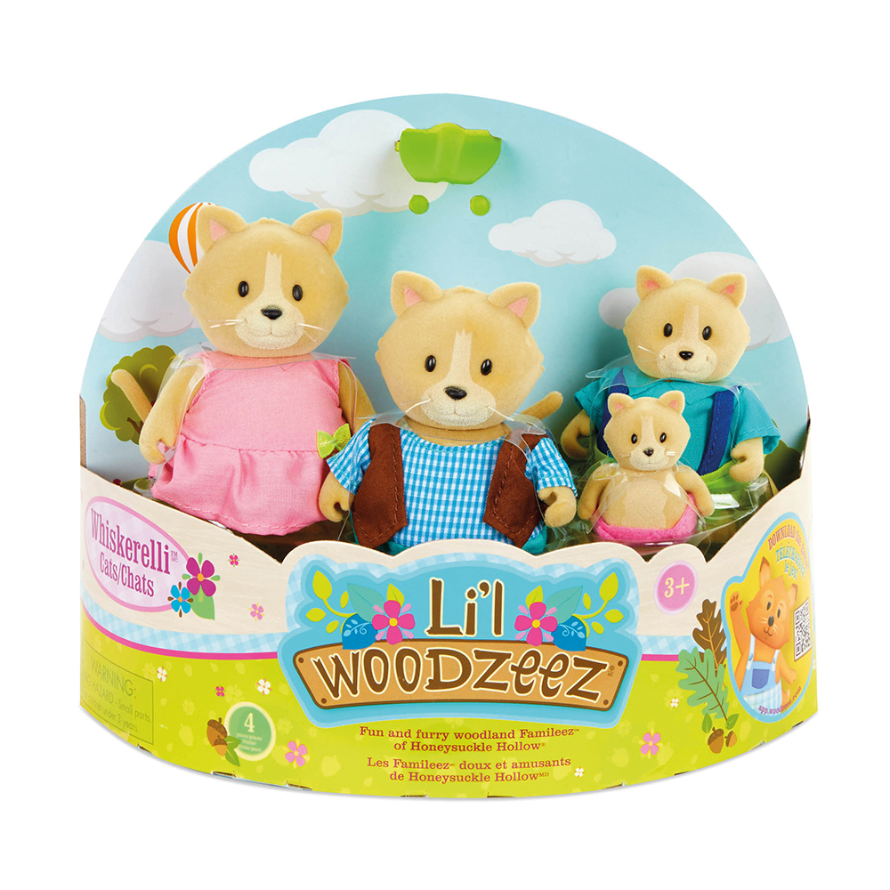 Li'l Woodzeez - Whiskerelli Cat family