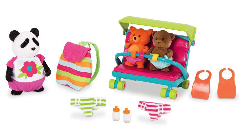 Li'l Woodzeez Baby Sitting Playset