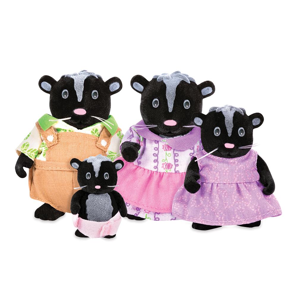 Li'l Woodzeez Famille de mouffettes