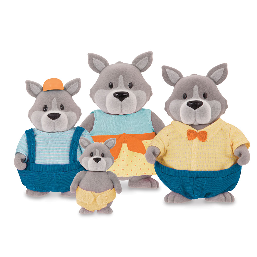 Li'l Woodzeez Wolf family