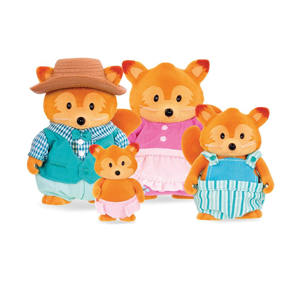 Li'l Woodzeez Fox family
