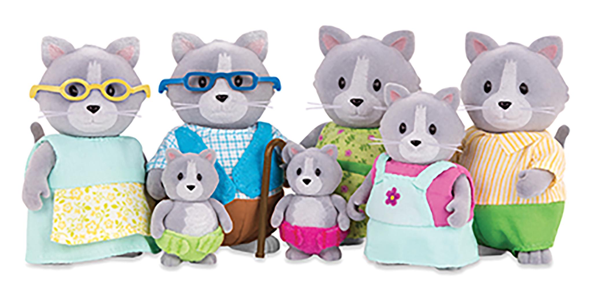 Li'l Woodzeez Cat Big family