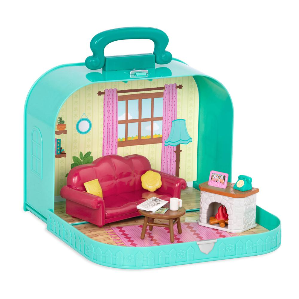 Li'l Woodzeez-Travel suitcase living room Playset