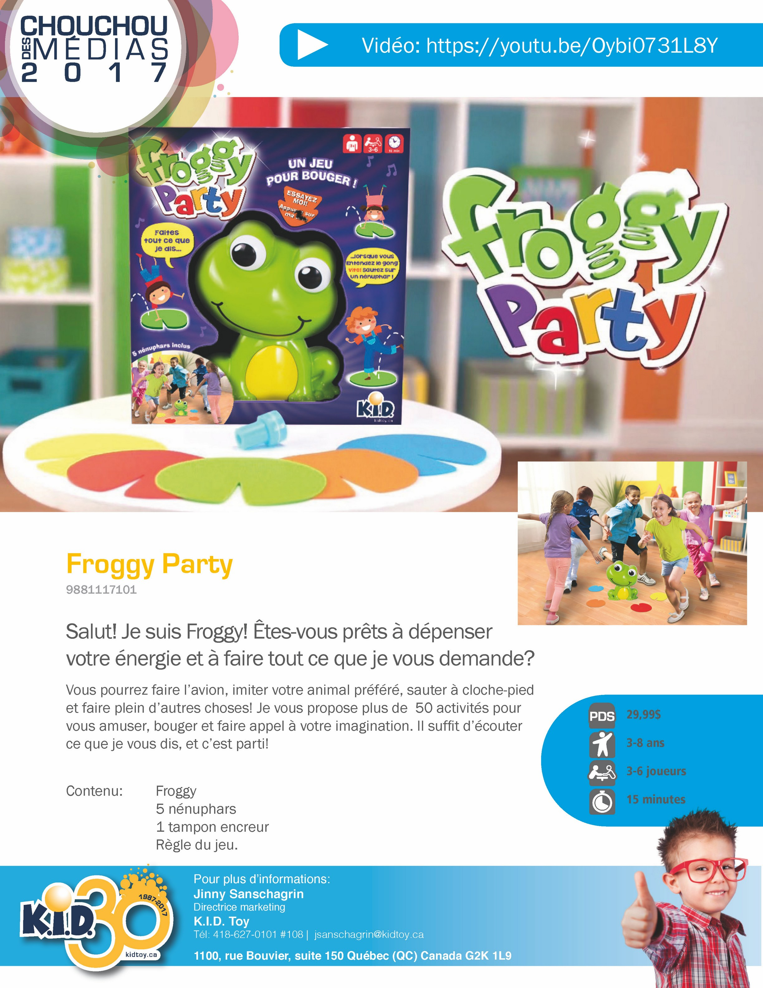 Game Froggy Party French version